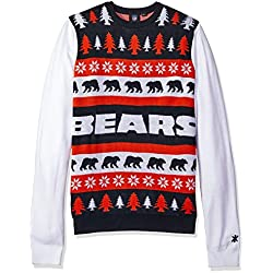 nfl chicago bears one too many ugly sweater medium