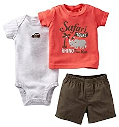 Carters Baby Boys 3 Piece Safari Diaper Cover Set (3 months)