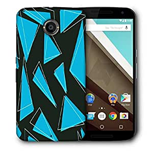 Snoogg Blue Pieces Of Triangle Designer Protective Phone Back Case Cover For Motorola Nexus 6