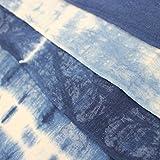 (ASAFUKU) 麻福 ふんどし 男性用 天然 ヘンプ素材 ( 麻 ) 藍染め ふんどしパンツ 夏 下着 メンズ 男性 快適 B 横縞藍絞り