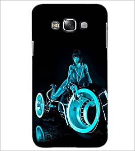PrintDhaba Rider Girl D-1201 Back Case Cover for SAMSUNG GALAXY A7 (Multi-Coloured)