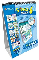 NewPath Learning 10 Piece Science Curriculum Mastery Flip Chart Set, Grade 6