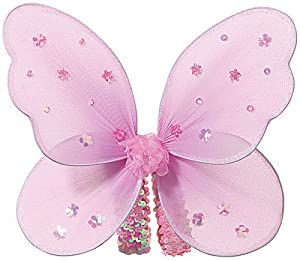Pink Sequin Star Wings Perfect Girls Fairy Princess or Butterfly Costume Wings