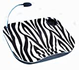 LAPTOP CUSHION PORTABLE READING LAP TOP TRAY TABLE WITH 5 LED LIGHT & CUP HOLDER (ZEBRA PRINT)
