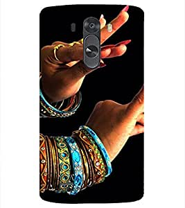 PrintVisa Indian Girl Bangles Dance Design 3D Hard Polycarbonate Designer Back Case Cover for LG G3 MINI