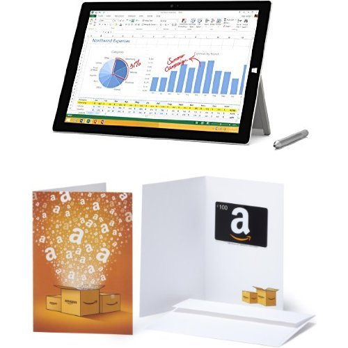 Microsoft Surface Pro 3 (64 GB, Intel Core i3) with $100 Amazon.com Gift Card