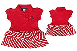 TOFFY HOUSE Red Frock for Kids