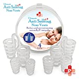 Ultimate Anti Snoring Nose Vents For Better Sleep By Practical Aid – Reduce Snoring & Promote Healthy Breathing, Soft & Comfortable Medical Grade Silicone Nasal Dilators – 4 Sizes & Handy Travel Case