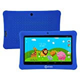"Contixo Kids Safe 7"" Quad-Core Tablet 8GB, Bluetooth, Wi-Fi, Cameras, 20+ Free Games, HD Edition w/ Kids-Place Parental Control, Kid-Proof Case, 2016 Best Christmas Gift (Dark Blue)"