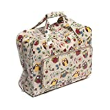 Hobby Gift Owl Design PVC Sewing Machine Bag on Natural (20 x 43 x 37cm)