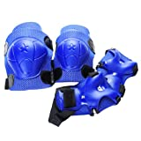 Generic Kid Cycling Roller Skating Knee Elbow Wrist Protective Pads - Dark Blue