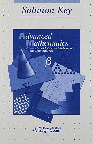 Advanced Math: Precalculus with Discrete Mathematics and Data Analysis (Solution Key) (Advanced Math compare prices)