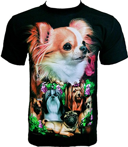 rock-chang-mens-t-shirt-sweet-puppies-dogs-black-r532-l
