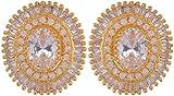 Violet & Purple Gold Plated Stud Earrings For Women (1000031107)