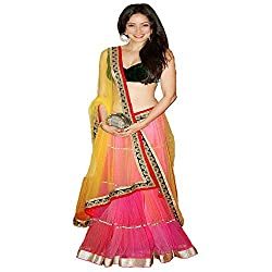 Khazanakart New Attractive Net Fabric Partywear Collection And Bollywood Style Designer Lehenga