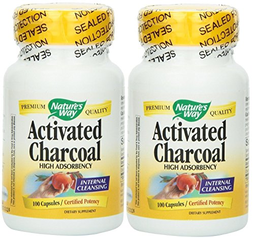 Nature's Way Charcoal, Activated 100 X 2 (Nature Way Activated Charcoal compare prices)