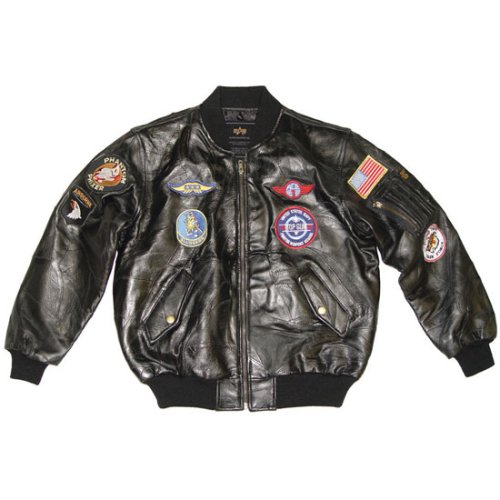 Youth Leather MA-1 with Patches - Buy Youth Leather MA-1 with Patches - Purchase Youth Leather MA-1 with Patches (Alpha Industries, Alpha Industries Mens Outerwear, Apparel, Departments, Men, Outerwear, Mens Outerwear)