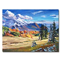 Trademark Art Autumn in The Foothills Canvas Wall Art by David Lloyd Glover 18 by 24-Inch