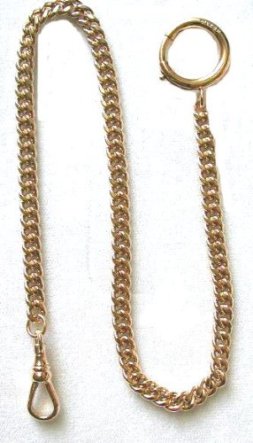 Pocketwatcher #148-1 14K Gold Filled Made in USA Quality Watch Chain with Large Spring Ring-New Stock