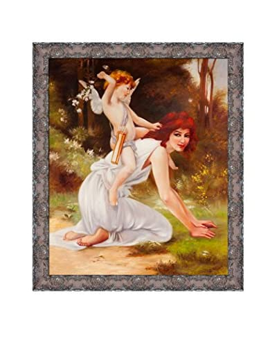 "Guillaume Seignac's ""Cupids Folly"" Framed Hand Painted Oil On Canvas, Multi"