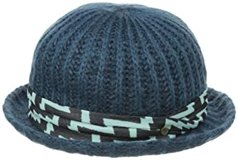 BCBGeneration Women's Printed Band Knit Bowler Hat, Blue Suede, One Size