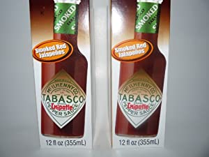 Tabasco Chipotle Pepper Hot Sauce- 2 Pack of 12 Ounces Each!!