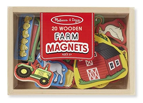 Melissa And Doug Wooden Farm Magnets 9279 Brand New Sealed - 1