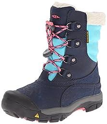 KEEN Basin WP Winter Boot (Little Kid/Big Kid), Dress Blues/Camellia Rose, 1 M US Little Kid