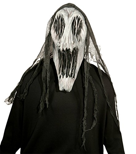 Gaping Wraith Scary Creepy Ghost Latex Adult Halloween Costume Mask