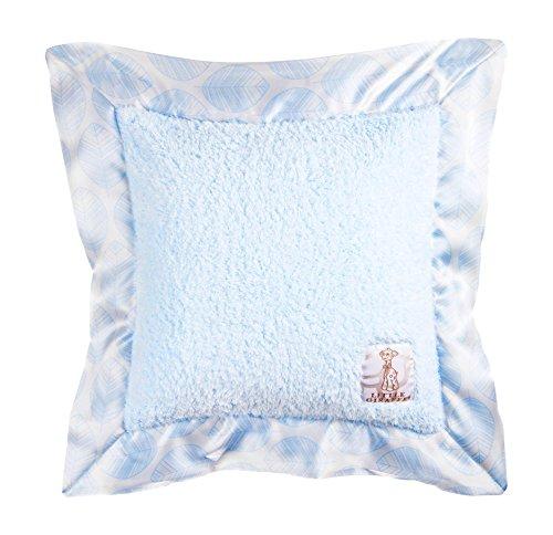 Little Giraffe Chenille Leaf Pillow, Blue