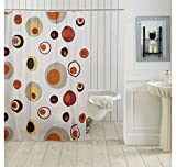 Ocean Dew Polka Shower Curtain - @home By Nilkamal, Peach