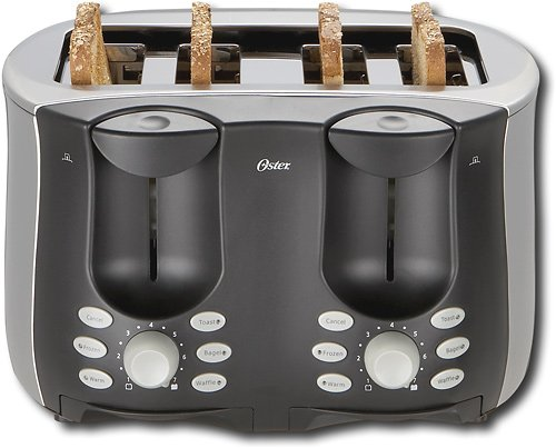 Brushed Stainless Steel 4 Slice Toaster Oster Toaster 4