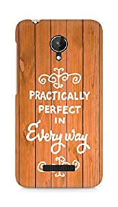 AMEZ practically perfect in every way Back Cover For Micromax Canvas Spark Q380