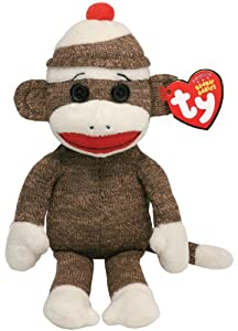 Ty Beanie Baby - Socks the Sock Monkey Brown