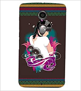 PrintDhaba Music Girl D-2523 Back Case Cover for MOTOROLA GOOGLE NEXUS 6 (Multi-Coloured)