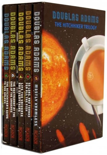 Complete Hitchhikers Guide To The Galaxy. Five Volume Set comprising The Hitchhikers Guide To The Galaxy, The Restaurant At The End Of The Universe, Life The Universe And Everything, So Long And Thanks For All The Fish, and Mostly Harmless. (The Restaurant At The End compare prices)