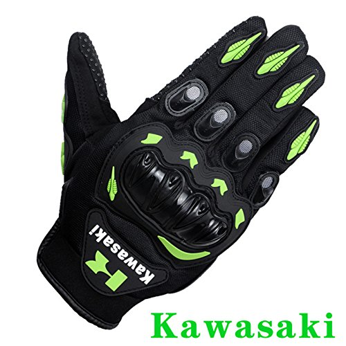 Kawasaki Motorcycle gloves retro Moto racing gloves Motocross full finger gloves Cycling glove M L XL XXL (M: 8-8.5 cm) 0