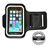 Best Running Armband for iPhone5 , 5S , 5c , 4 , 4S , 3GS and iPod 5 Touch (Black)