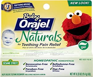 Orajel Baby Naturals Teething Gel, 0.33 Ounce