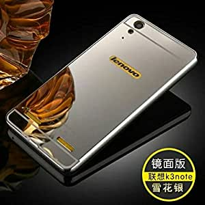 Luxury Mirror back cover for Lenovo A6000 Silver