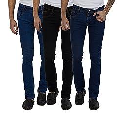 Cladien (Since 1958), 100% Cotton, Men Jeans Combo, Pack of 3