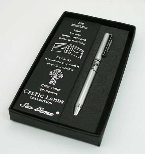 Lj Designs Celtic Cross (6Th Century) Wallet Pen (Sg04) - Christian Presents