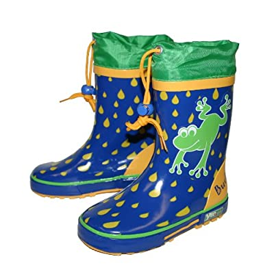 Yeominis Frog Leaping Blue Wellingtons