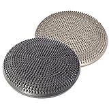 Sitz-Kissen 33 cm Deluxe Silber und Anthrazit Gleichgewichtskissen Balance-Kissen