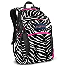 JanSport Wasabi Backpack, Black/White/Fluorescent Pink