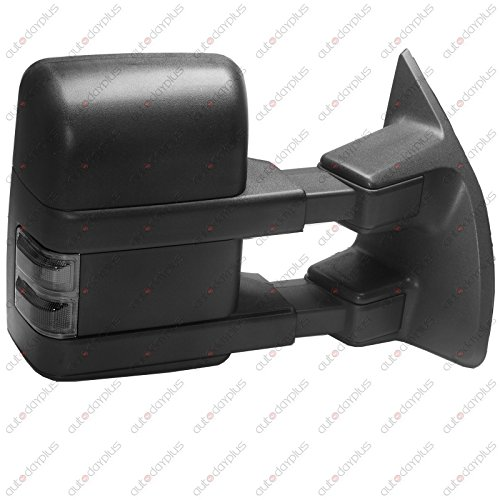 Towing Telescoping Folding Black Textured Tow Mirrors