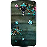 For Samsung Galaxy S3 Mini I8190 :: Samsung I8190 Galaxy S III Mini :: Samsung I8190N Galaxy S III Mini Blue Flower ( Blue Flower, Flower, Cartoon, Pink Flower ) Printed Designer Back Case Cover By FashionCops