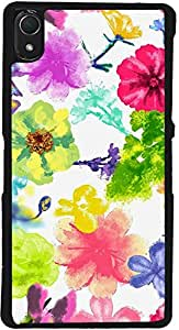 PrintVisa D7950 Pattern Abstract Flower Art Case Cover for Sony Xperia Z2 (Multicolour)