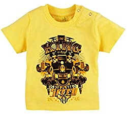 T-Shirt With Print, YELLOW, 6-9M (24 CM)