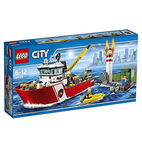 LEGO City 60109 Motobarca Pompieri Antincendio gioco di costruzioni *04215